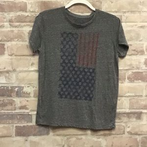 Lucky brand grey American flag tee size small
